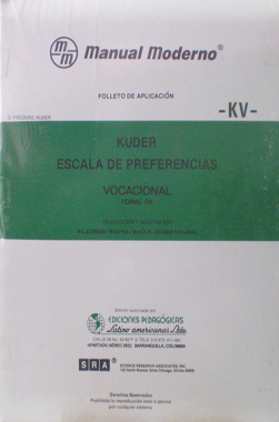 Escala de Preferencias -Vocacional- KV