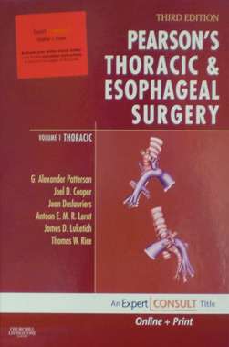 Pearson's Thoracic & Esophageal Surgery 3th. Edition 2 Vol. Set