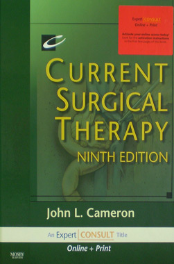 Current Surgical Therapy 9th. Editon Expert Consult Online and Print