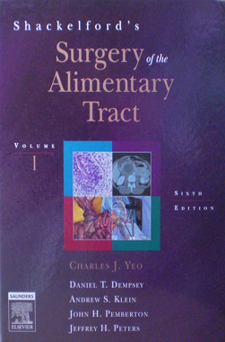 Shackelford's Surgery of the Alimentary Tract 2 Vol. Set 6th. Edition